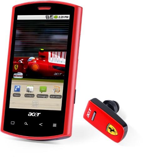 Acer liquid e ferrari - гоночный смартфон уже в россии