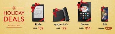 Amazon предлагает планшеты, «читалки» и смартфон по сниженной цене