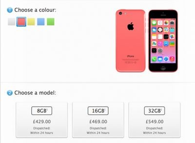 Apple начала продавать iphone 5c с 8 гб памяти и ipad 4 вместо ipad 2