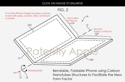 Apple патентует складной iphone