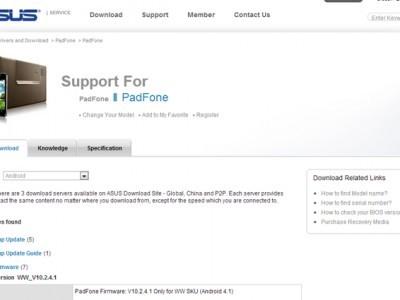 Asus padfone 2 получил небольшой апдейт
