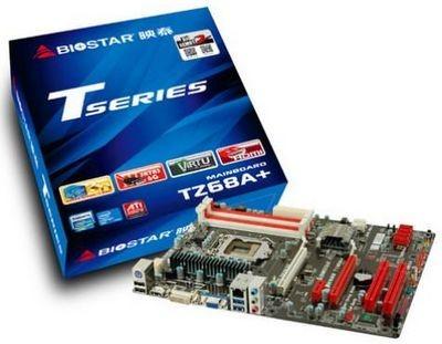 Biostar выпустила материнскую плату tz68a+ на базе чипсета intel z68 express