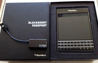 Blackberry passport получил поддержку slimport