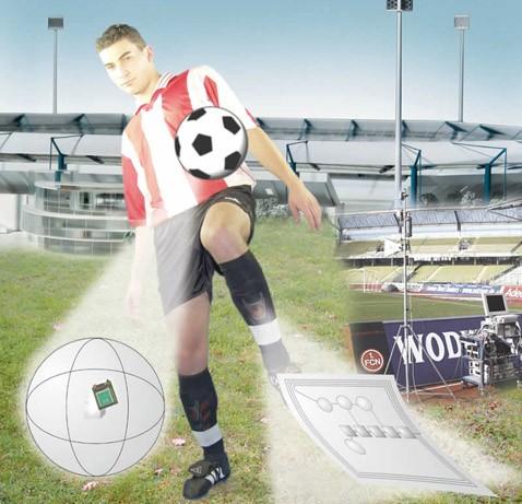 Cairos-projekt: футболисты играют с микрочипами электромячом