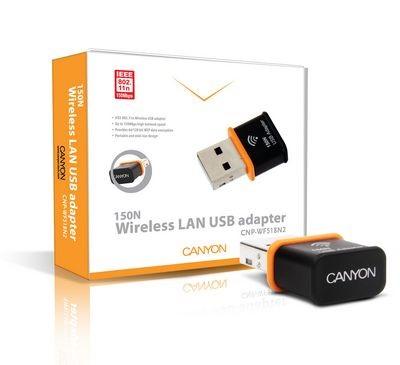 Canyon cnp-wf518n2 - самый маленький wi-fi 802.11n адаптер