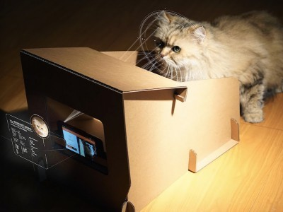 Catfi box - google cardboard для котиков