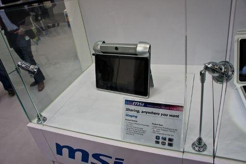 Cebit 2011: msi встроила в планшет staging настоящий проектор
