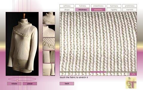 Click 2 touch: невидимые пальцы щупают одежду через сеть