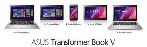 Computex 2014: asus transformer book v — трансформер 5-в-1 с двумя ос