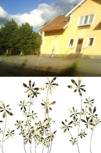Цветочные обои вырастают изфотографий