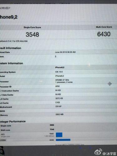 Geekbench подтвердил 3 гб озу для apple iphone 7