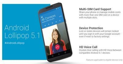 Google выпустила смартфоны на android 5.1 lollipop