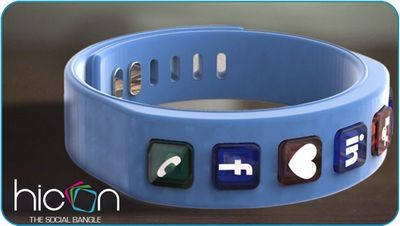 Hicon social bangle - браслет для любителей социальных сетей