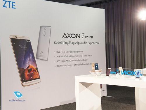 Ifa 2016. первый взгляд на zte axon 7 mini