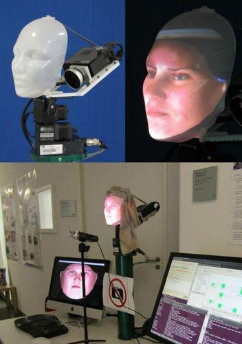 Инженеры создали проекционное лицо для андроида