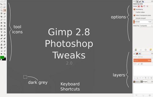 Как превратить gimp в аналог photoshop в ubuntu linux