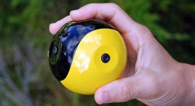 Камера размером с теннисный мяч снимает стабилизированное видео в полёте