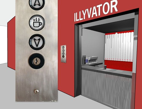 Кофейный лифт illyvator поит клерков по вызову