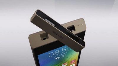 Lenovo smart cast – оригинальный концепт смартфона с поворотным лазерным проектором
