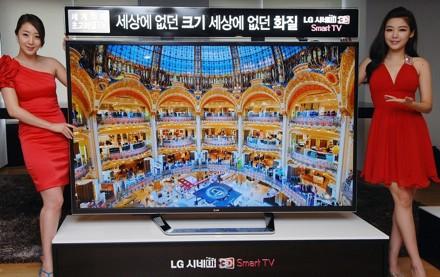 Lg представила первый в мире 84-дюймовый 3d-телевизор сверхвысокого разрешения