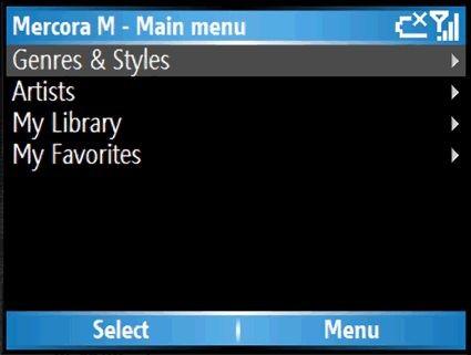 Mercora m: потоковое вещание музыки на смартфон