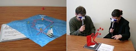 Модели выплывают из книги на виртуальных парусах