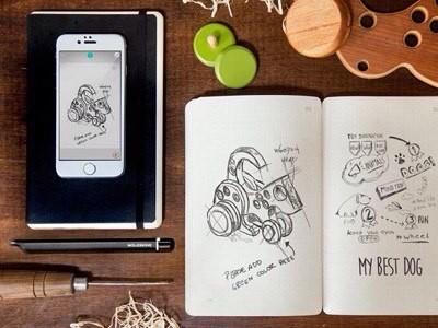 Moleskine smart writing set предназначен для любителей рисовать на бумаге