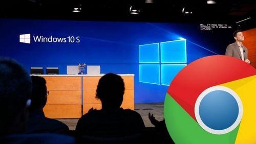 На windows 10 s не будет google chrome