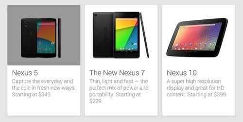 Nexus 5 появился и исчез в google play