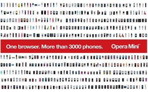 Новый opera mini 5.1 - браузер более чем 3000 моделей телефонов