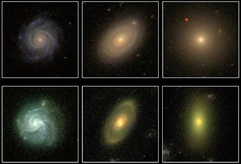Обнаружены галактики в переходной стадии развития