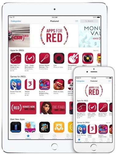 Приложения для (red) - глобальная акция apple по борьбе со спидом
