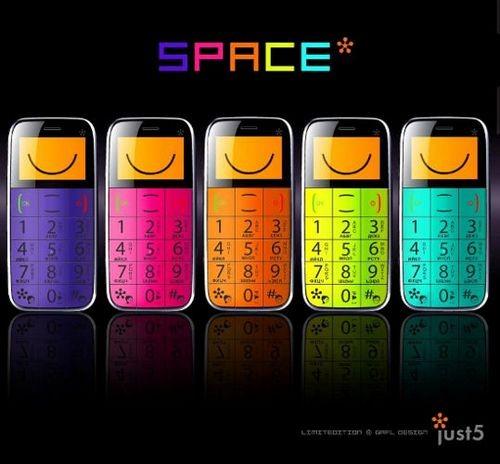 Простые телефоны just5 spacephone и bestinspace раскрасят серые будни