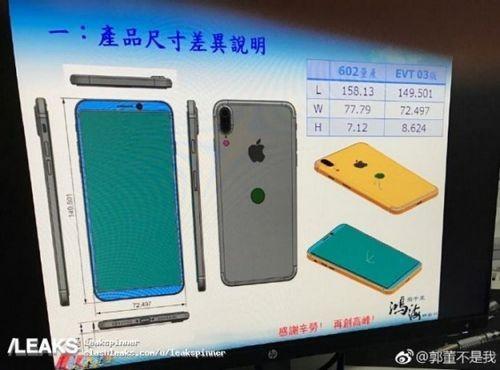Рассекречены дизайн и габариты apple iphone 8