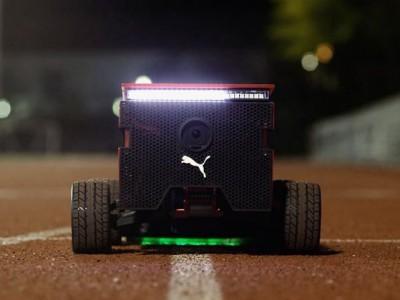 Робот puma beatbot помогает бегунам ставить новые рекорды