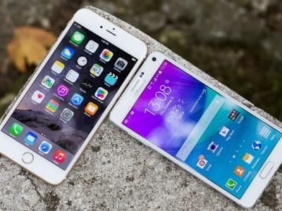 Samsung galaxy note 5 сравнили с iphone 6 в тесте на скорость работы