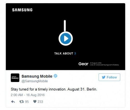 Samsung объявила дату анонса смарт-часов gear s3