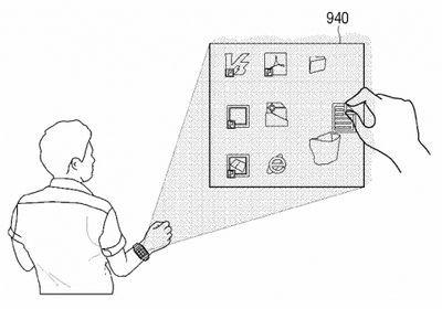 Samsung патентует смарт-часы со встроенным проектором