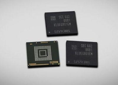 Samsung представил скоростные чипы памяти объемом в 256 гб для планшетов и смартфонов