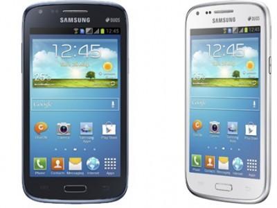 """Samsung представила бюджетный galaxy core: 4,3"""" дисплей и 2 sim-карты"""