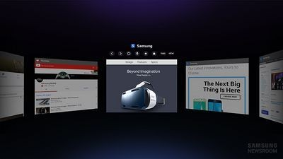 Samsung выпустила веб-браузер для очков gear vr