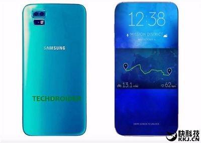 Samsung выпустит смартфон с трехгранным дисплеем. фото