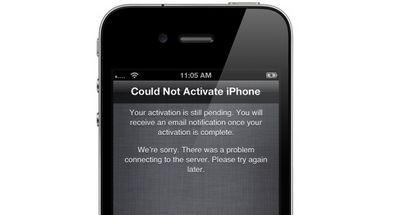 Сервер активации apple iphone пережил многочасовой сбой