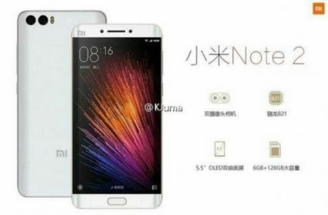 Snapdragon 821 soc и 6 гб озу для xiaomi mi note 2 подтверждены официально