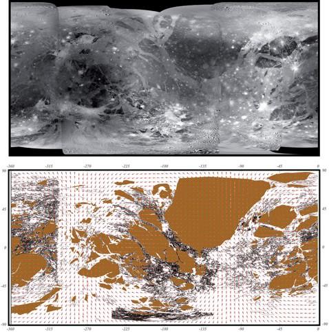 Составлена первая геологическая карта ганимеда