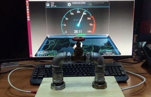Создан водопроводный кран для управления интернетом. видео