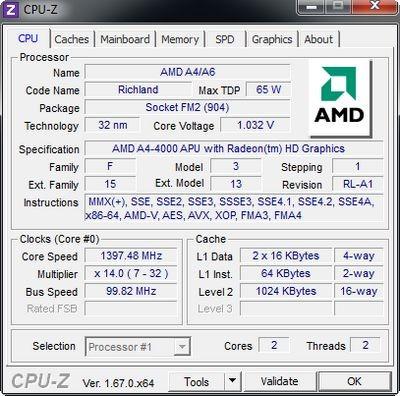 Стали известны некоторые характеристики бюджетного настольного процессора amd llano apu e2-3200