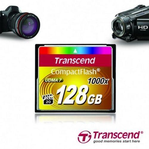 Transcend анонсировала карты памяти 1000x compactflash (128 гб)