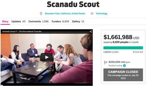 Трикодер из startrek, или scanadu scout для измерения жизненных показателей