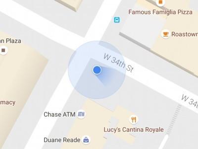 В картах google теперь показывается направление движения